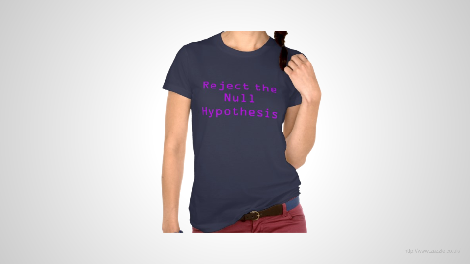 T-shirt - reject the null hypothesis